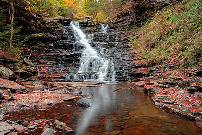 Photograph - Fall Reflections Of F L Ricketts Falls by Gene Walls
