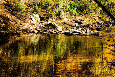Photograph - Fall Reflections On The Eno River by Sandra Clark