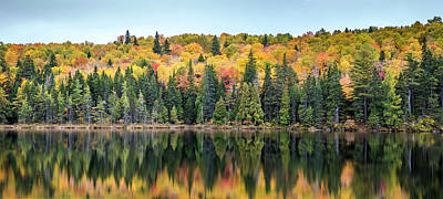 Photograph - Fall Reflections Panorama by Pierre Leclerc Photography