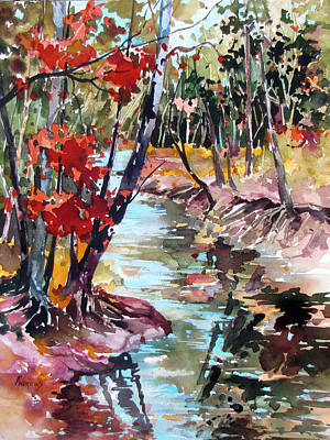 Fall Reflections Art Print by Rae Andrews