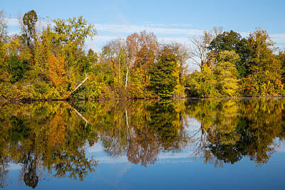 Housatonic River Photograph - Fall Reflects by Karol Livote