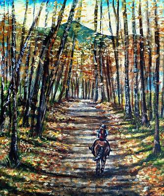 Maine Roads Painting - Fall Ride by Shana Rowe Jackson