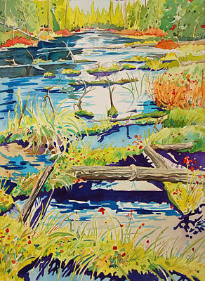 Painting - Fall River Scene by Terry Holliday