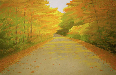 Pastel - Fall Road Granby by Bruce Richardson