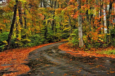 Fall Road To Glory Art Print by Kenny Francis