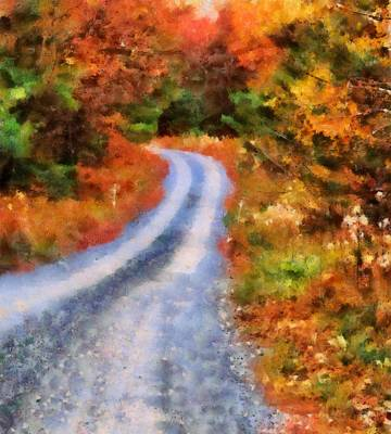 Fall Road To Paradise Art Print by Dan Sproul