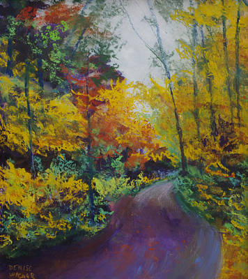 Pastel - Fall Road To Whipple Dam by Denise Wagner