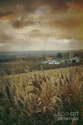 Photograph - Fall Rural Scene Of A Farm In The Valley by Sandra Cunningham