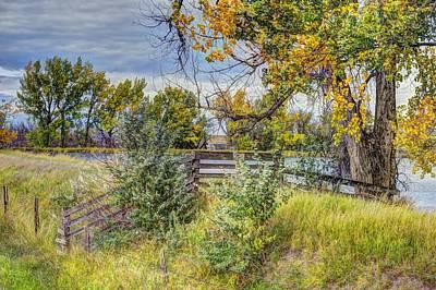 Montana Digital Art - Fall Scene Eastern Montana by Aliceann Carlton