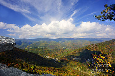 Fall Scene From North Fork Mountain Art Print by Dan Friend