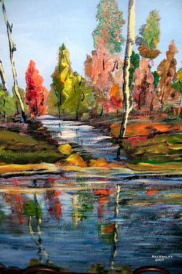 Painting - Fall Scene by Ray Khalife