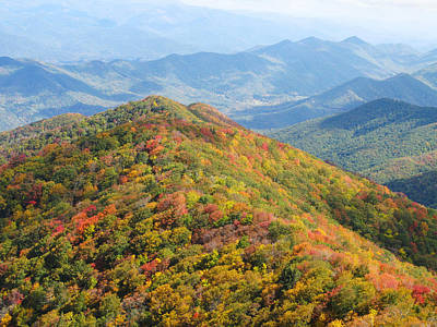 Photograph - Fall Smoky Mountains Peak by Melinda Fawver