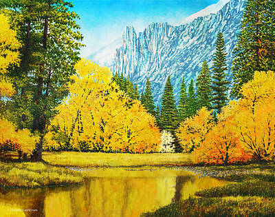 Fall Splendor In Yosemite Art Print