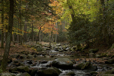 Photograph - Fall Stream Cades Cove Gsmnp by Paul Herrmann