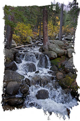 Photograph - Fall Stream Cascade by Judy Deist