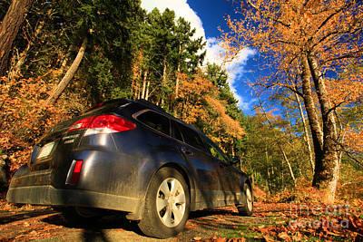 Photograph - Fall Subaru by Adam Jewell