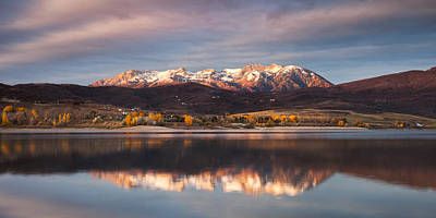 Huntsville Wall Art - Photograph - Fall Sunrise In Ogden Valley by Rory Wallwork