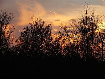 Photograph - Fall Sunset 2 by Gene Cyr