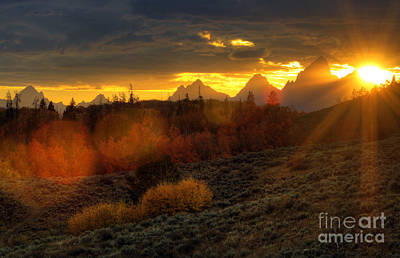 Photograph - Fall Sunset by Deby Dixon
