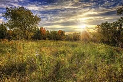 Fall Sunset Over Prairie - Retzer Nature Center - Waukesha Wisconsin Art Print