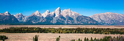 Fall Tetons Panorama   Art Print