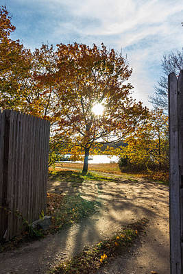 Photograph - Fall Through The Gate by Kirkodd Photography Of New England