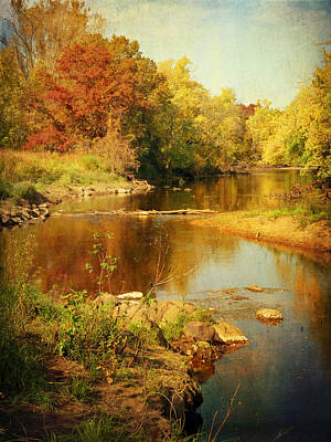 Fall Time At Rum River Art Print