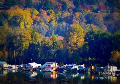 Photograph - Fall Time River Homes by Susan Garren