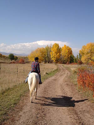 Kim Baker Photograph - Fall Trail Ride by Kim Baker