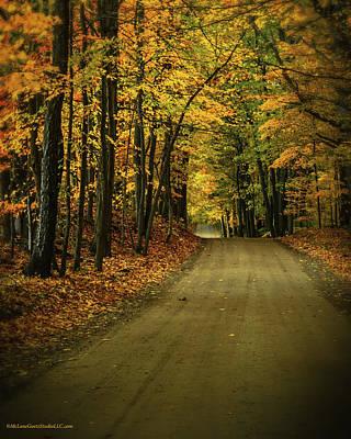 Photograph - Fall Trails Near Dryden Michigan by LeeAnn McLaneGoetz McLaneGoetzStudioLLCcom