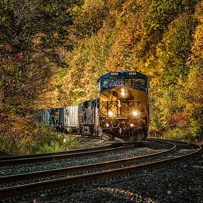 Photograph - Fall Train by Fred LeBlanc
