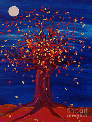 Fall Tree Fantasy By Jrr Art Print