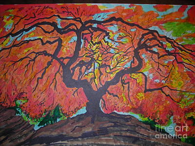 Twitter Mixed Media - Fall Tree by Mike Dendinger