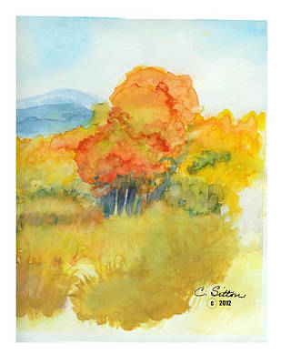 Painting - Fall Trees 2 by C Sitton