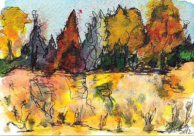Painting - Fall Trees by Shelley Bain