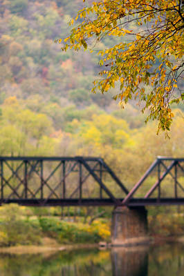 Wall Art - Photograph - Fall Trestle by Scott Hafer