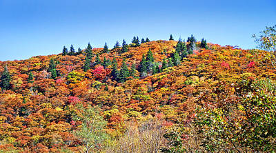 Photograph - Fall View From Hwy215 Near Devil's Courthouse Rock by Duane McCullough