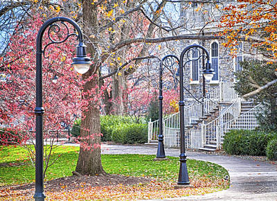 Penn State University Photograph - Fall Walk At Old Main  by Gregory Gill