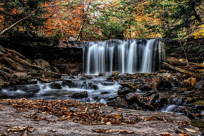 Photograph - Fall Water by David Stine