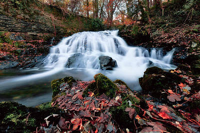 Photograph - Fall Waterfall by Beverly Cash
