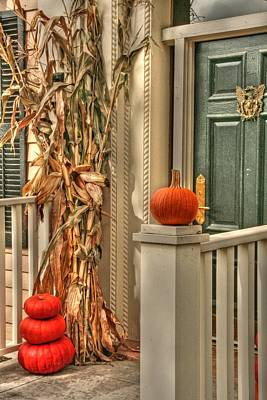 Fall Welcome Art Print by Heather Allen