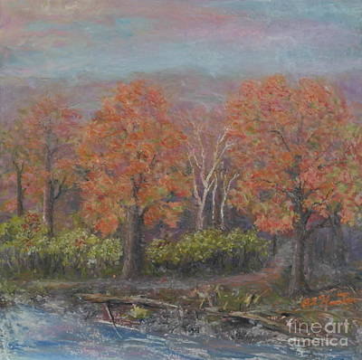 Painting - Fall Woodlands by Al Hunter