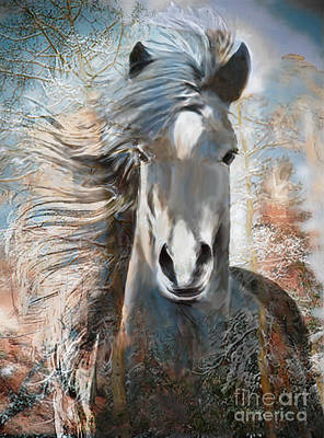 Mixed Media - Fall Yearling by Ursula Freer