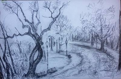 Drawing - Fall2014-14 by Vladimir Kezerashvili