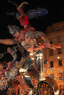 Papier Mache Photograph - Falla Of Great God Thor In Valencia by Carl Purcell