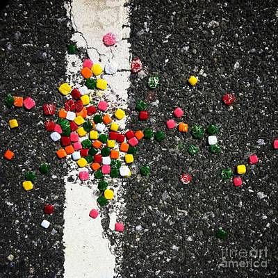 Road Photograph - Fallen Candy On Road by Amy Cicconi