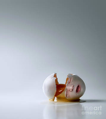 Surrealistic Photograph - Fallen Egg by Diane Diederich