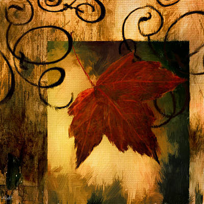 Red Maple Trees Digital Art - Fallen Leaf by Lourry Legarde