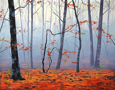 Elm Painting - Fallen Leaves by Graham Gercken