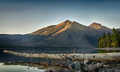 Montana Photograph - Fallen Log On Lake Mcdonald by Jess Williams